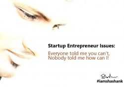 Startup Entrepreneur Issues: Everyone told me you can't, nobody told me how can I!