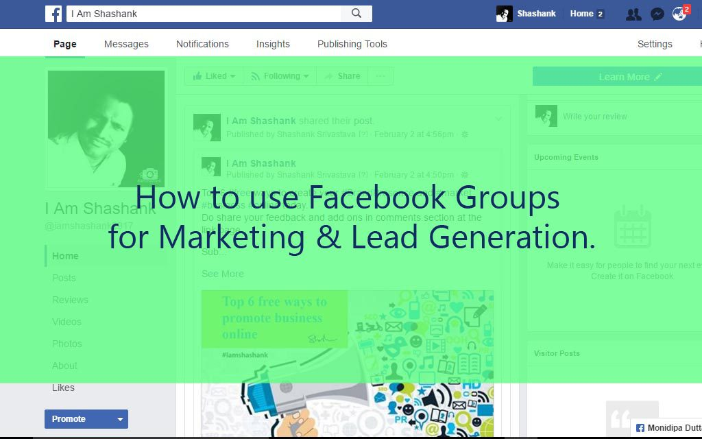 Facebook Group for Marketing and Lead Generation